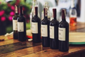 Bottles of wine. What happens to wine as it ages?